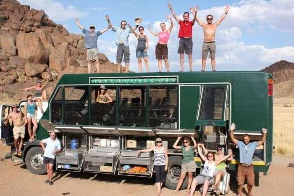 Kempování v Namibii