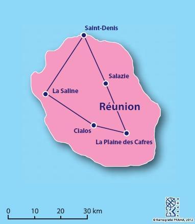 Okruh Réunion a Mauritius