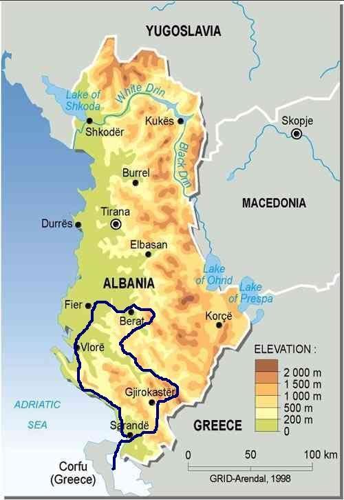 Toulky jižní Albánií – malý okruh s pobytem