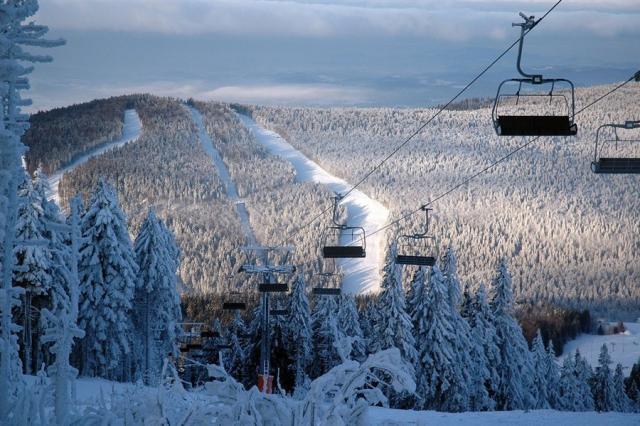 Rakousko lyžování pololetní prázdniny - Hochficht a Sternstein