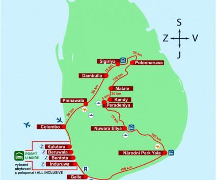 Okruh střed a jih / Kalutara  (hotely 3* / Tangerine Beach hotel 4*)