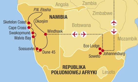 Na cestě do Himba - JAR a Namibie