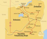 JAR, Botswana, Zimbabwe - výlet k Viktoriiným vodopádům