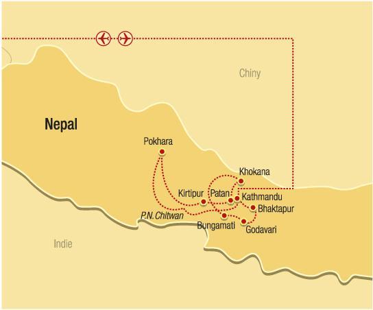 Nepál - na úpatí Himalájí