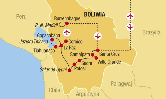Bolívie - poušť Dakar