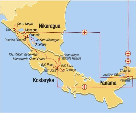 Panama, Kostarika a Nikaragua - Moře lesů a láva potěšení
