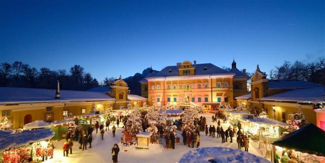 Romantické vánoční trhy v Salzburgu