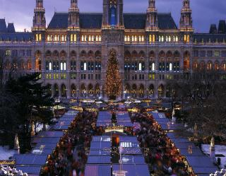 Advent ve Vídni, zámek Schönbrunn, Belvedere a Hofburg