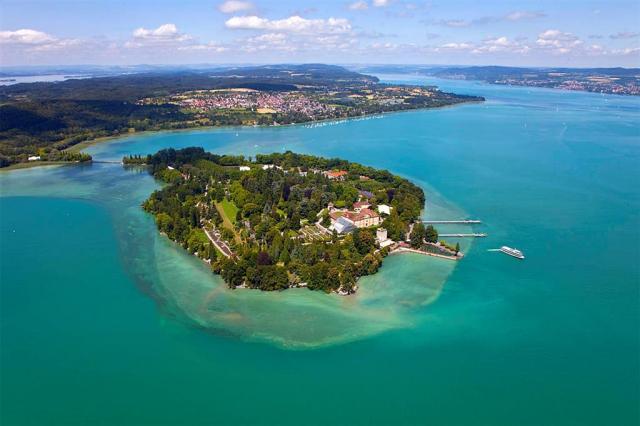 Podél bodamského jezera nakolech - Švýcarsko, Lichtenštejnsko, Německo, Rakousko