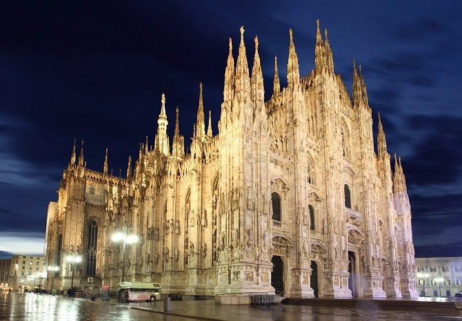 Předvánoční Milán