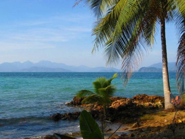 Tropický ostrov Koh Chang v Thajsku