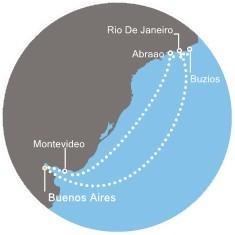 Costa Pacifica - Argentina, Brazílie, Uruguay
