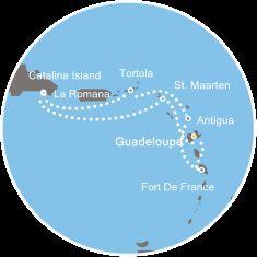 Costa Magica - Dominikánská republika, Panenské ostrovy, Antigua