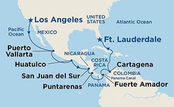 Coral Princess - Plavba z Los Angeles skrz Panamský průplav na Floridu