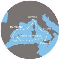 Costa Fascinosa - Itálie, Španělsko, Baleárské ostrovy