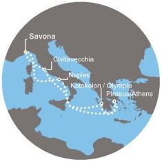 Costa Luminosa - Itálie, Řecko