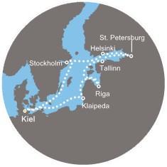 Costa Pacifica - Německo, Švédsko, Estonsko, Rusko, Finsko, Lotyšsko, Litva