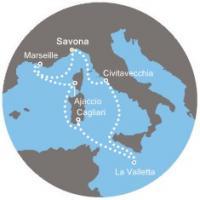 Costa Pacifica - Itálie, Francie, Tunisko, Malta