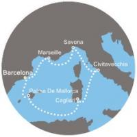 Costa Diadema - Španělsko, Baleárské ostrovy, Itálie, Francie