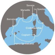 Costa Diadema - Itálie, Francie, Španělsko, Baleárské ostrovy