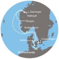 Costa Favolosa - Německo, Dánsko, Norsko