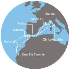 Costa Magica - Francie, Gibraltar, Kanárské ostrovy, Madeira, Španělsko