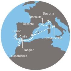Costa Magica - Itálie, Francie, Maroko, Portugalsko, Španělsko