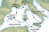MSC Armonia - Itálie, Francie, Španělsko, Sardinie, Malta, Sicílie