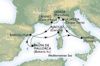 MSC Fantasia - Itálie, Francie, Španělsko, Korsika