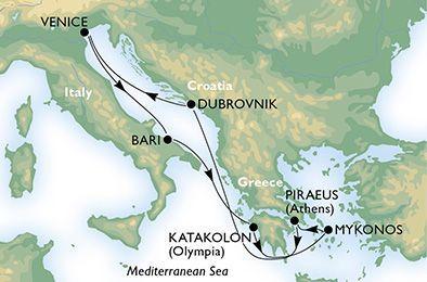 MSC Magnifica - Itálie, Řecko, Turecko, Chorvatsko