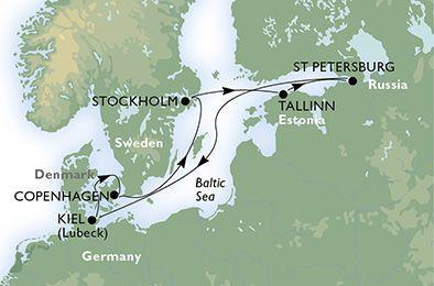 MSC Musica - Baltské moře