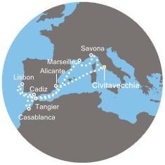 Costa Magica - Francie, Maroko, Španělsko, Portugalsko
