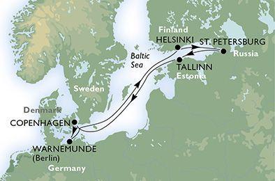 MSC Opera - Německo, Finsko, Rusko, Estonsko, Dánsko