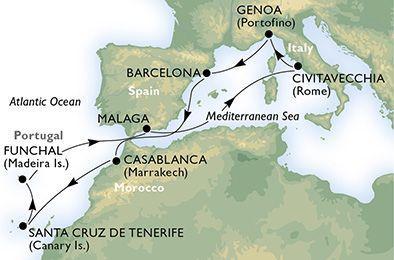 MSC Musica - Itálie, Španělsko, Maroko, Kanárské ostrovy, Madeira
