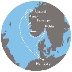 Costa Pacifica - Německo, Norsko