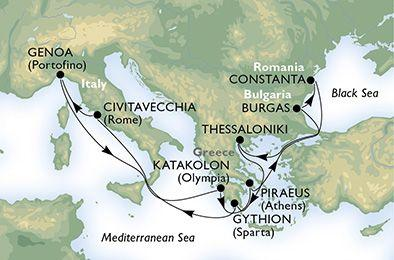 MSC Opera - Itálie, Řecko, Bulharsko, Rumunsko