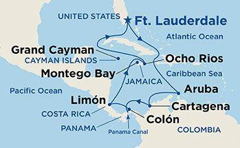 Coral Princess - Plavba Karibikem a Panamským průplavem