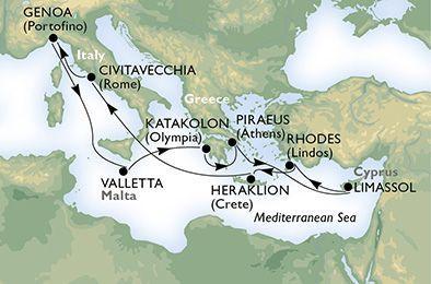 MSC Magnifica - Itálie, Malta, Řecko, Kypr