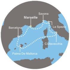 Costa Diadema - Francie, Itálie, Španělsko, Baleárské ostrovy
