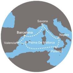 Costa Fascinosa - Španělsko, Balearic, Itálie