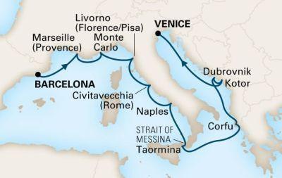 MS Oosterdam - Plavba z Říma do Barcelony