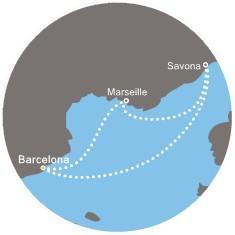 Costa Mediterranea - Španělsko, Francie, Itálie