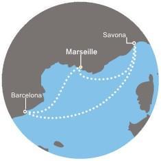 Costa Mediterranea - Francie, Itálie, Španělsko