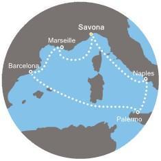 Costa Mediterranea - Itálie, Španělsko, Francie