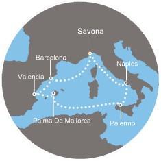 Costa Mediterranea - Itálie, Španělsko, Balearic