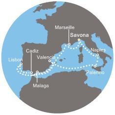 Costa Mediterranea - Itálie, Španělsko, Portugalsko, Francie