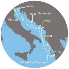 Costa Mediterranea - Chorvatsko, Řecko, Černá  Hora