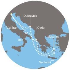 Costa Deliziosa - Itálie, Řecko, Chorvatsko