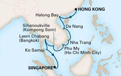 MS Volendam - Plavba z Hongkongu do Singapuru