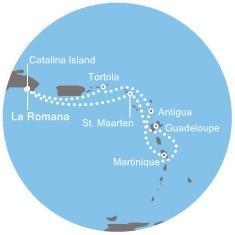 Costa Favolosa - Dominikán.rep., Panenské ostrovy, Antily